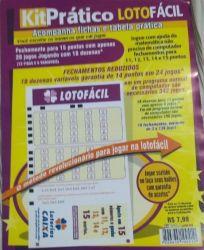 Lotofácil Kit Prático Lotofácil  18 Fechamentos de 3 a 136 Apostas